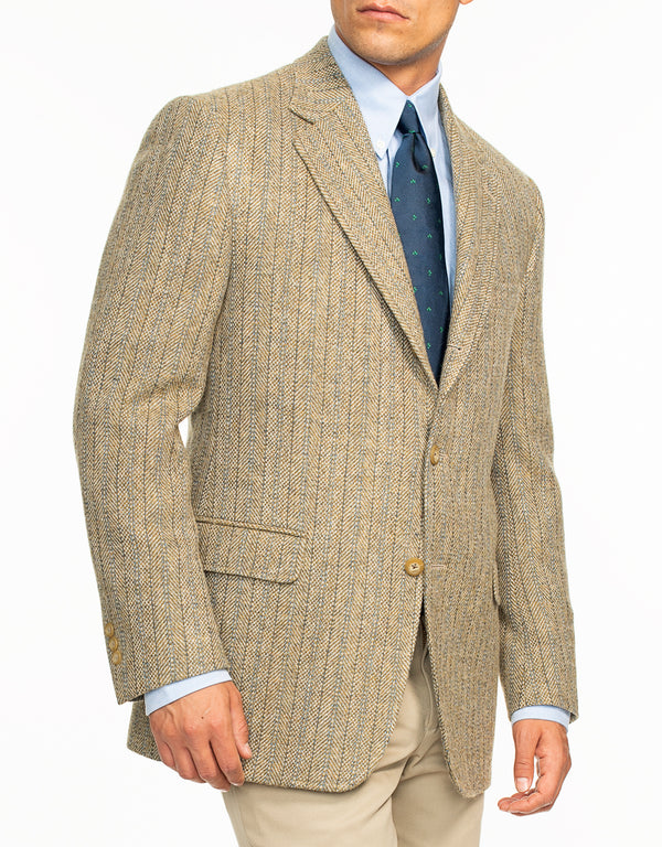 MAGEE BEIGE WITH BLUE STRIPE SPORTCOAT
