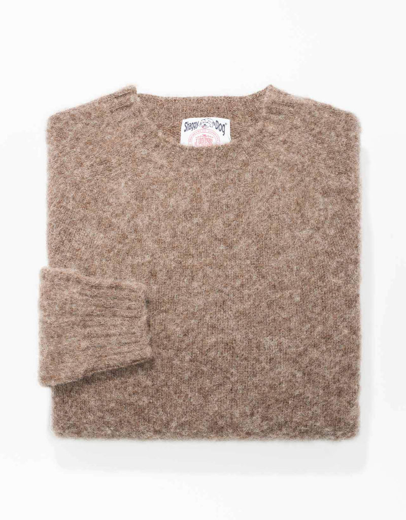 SHAGGY DOG SWEATER BEIGE - TRIM FIT
