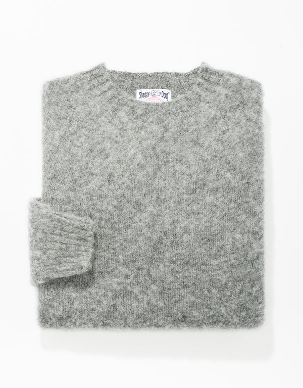 SHAGGY DOG SWEATER MID GREY - TRIM FIT