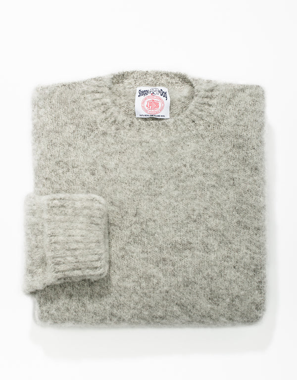 SHAGGY DOG SWEATER LIGHT GREY - CLASSIC FIT