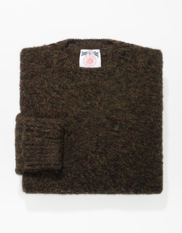 SHAGGY DOG SWEATER CLASSIC - BROWN