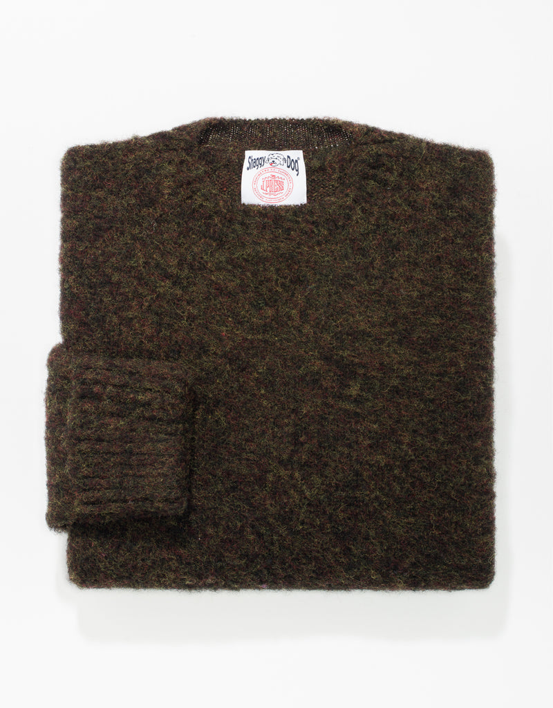 SHAGGY DOG SWEATER CLASSIC BROWN - CLASSIC FIT