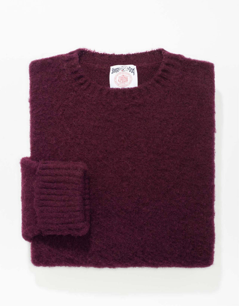 SHAGGY DOG SWEATER WINE - CLASSIC FIT