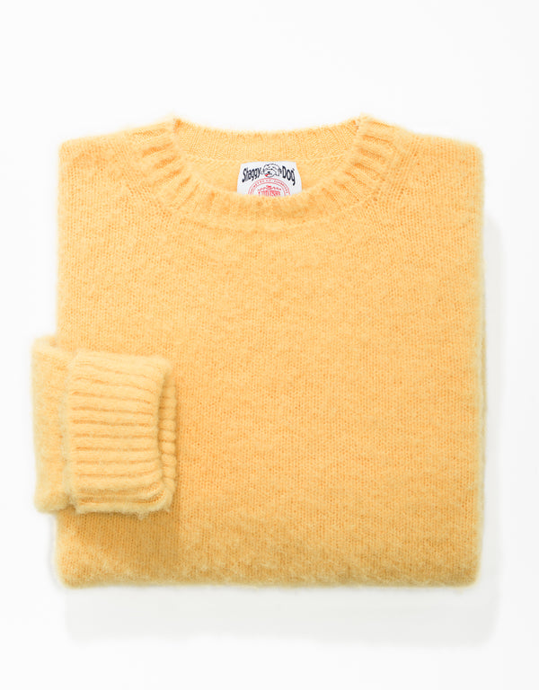CLASSIC FIT SHAGGY DOG SWEATER - YELLOW