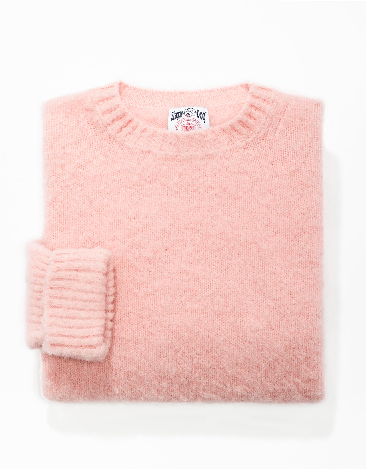 CLASSIC FIT SHAGGY DOG SWEATER - PINK