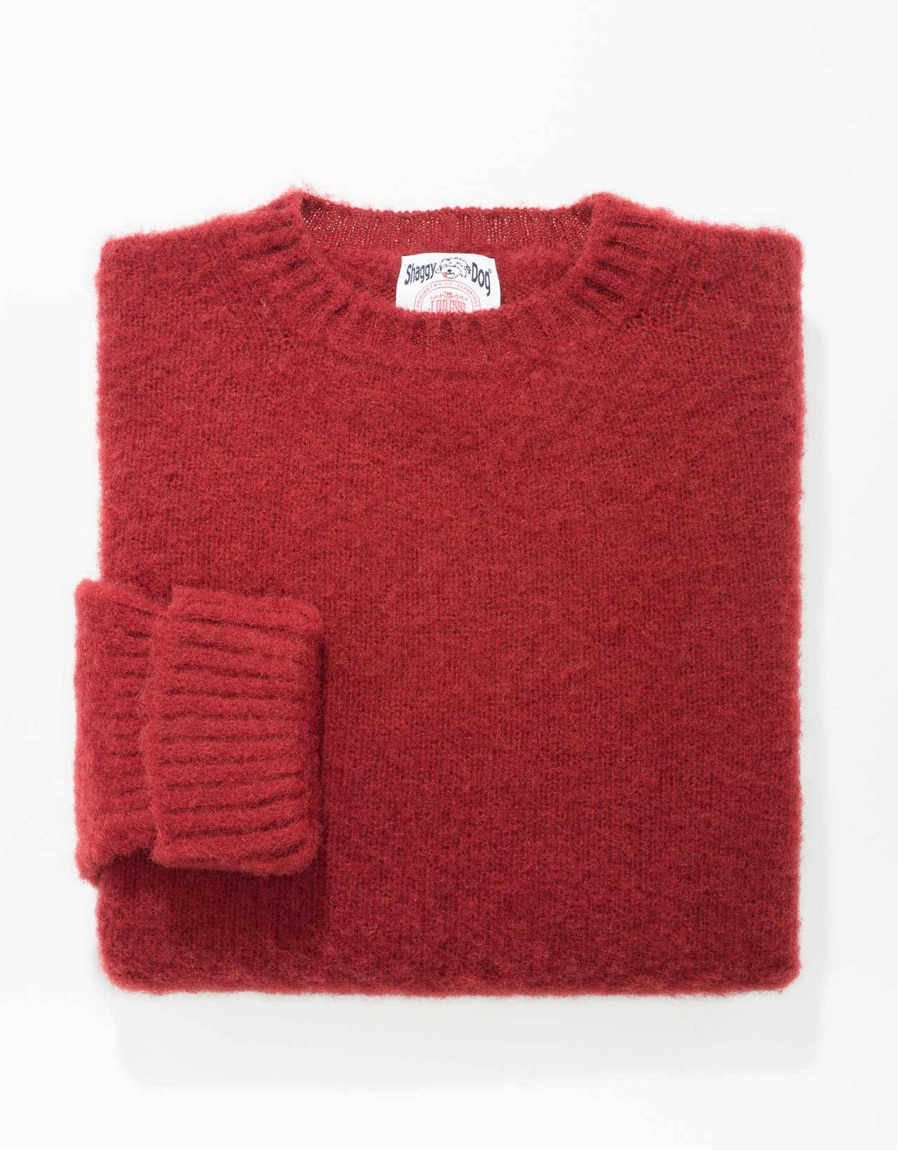 CLASSIC FIT SHAGGY DOG SWEATER - RED