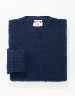 SHAGGY DOG SWEATER NAVY - CLASSIC FIT