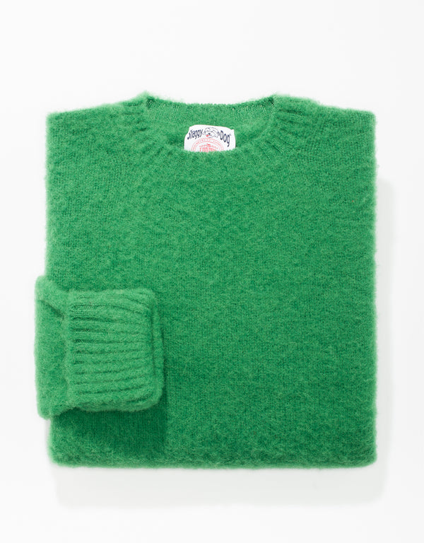 SHAGGY DOG SWEATER KELLY GREEN - CLASSIC FIT
