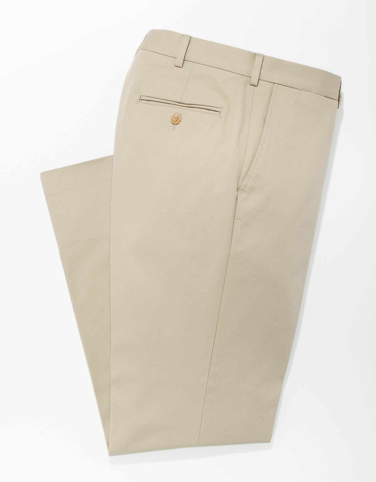 KHAKI UNWASHED COTTON CHINO- TRIM FIT