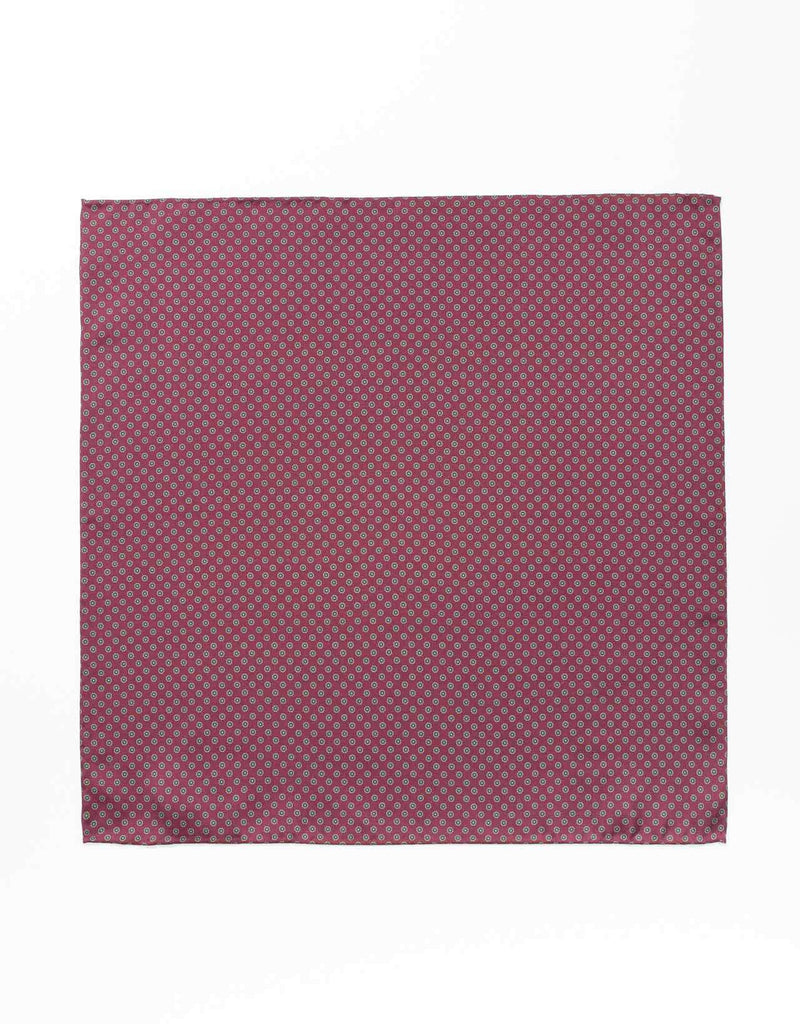SILK SMALL FOULARD POCKET SQUARE- PURPLE