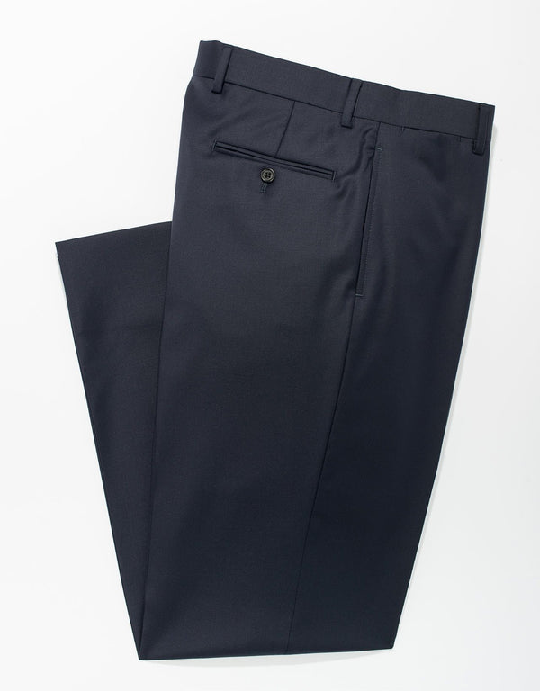 NAVY WOOL TROUSERS - CLASSIC FIT