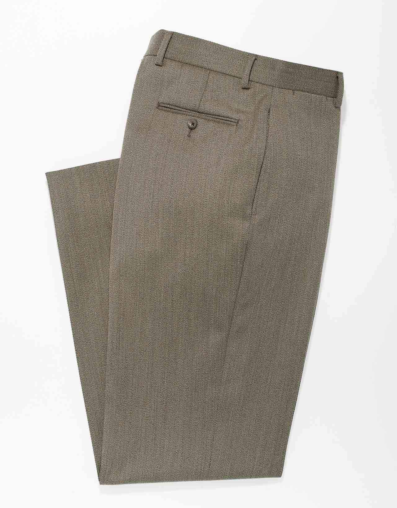 OLIVE  COVERT TWILL WOOL
