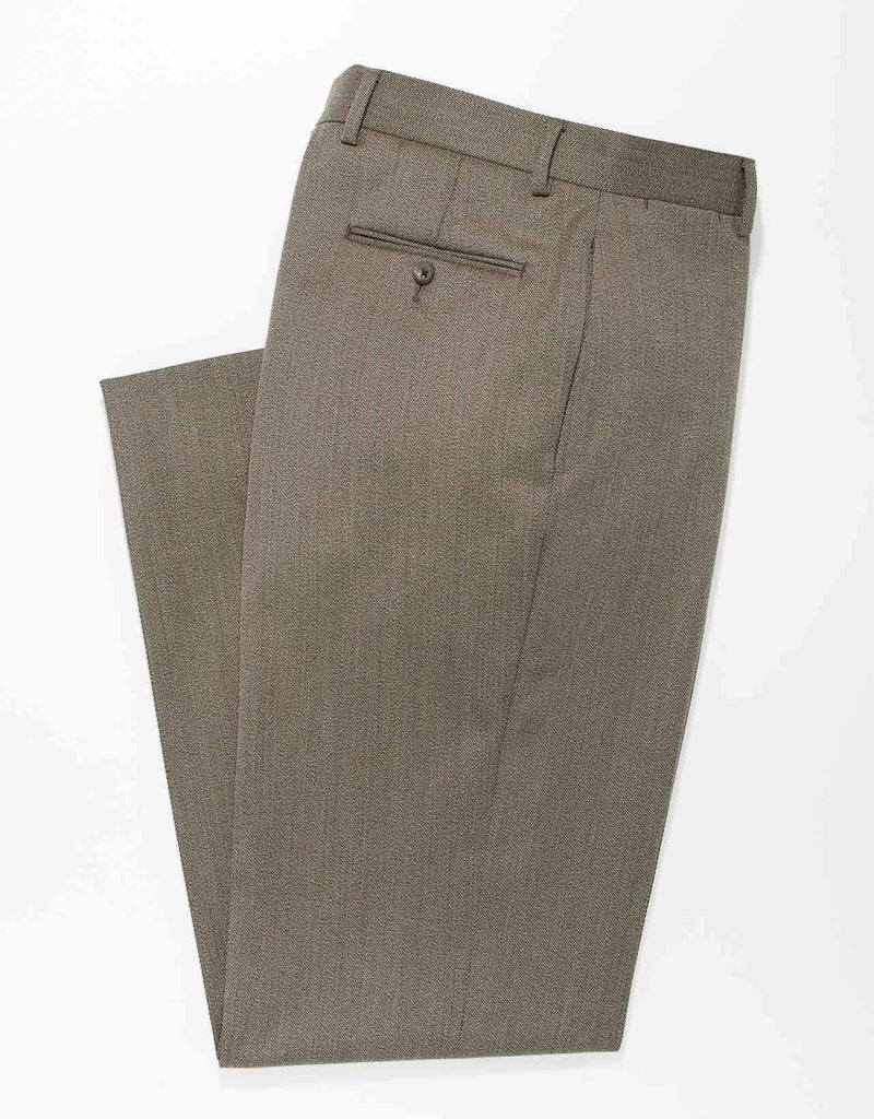 OLIVE  COVERT TWILL WOOL PANTS