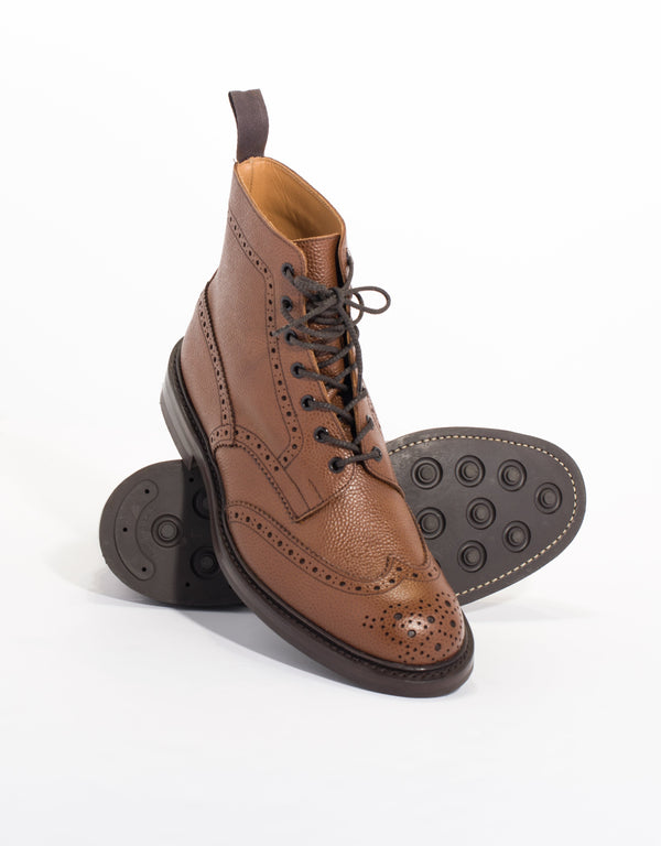 J.PRESS x TRICKER'S CONKER SCOTCH GRAIN ANKLE BOOT