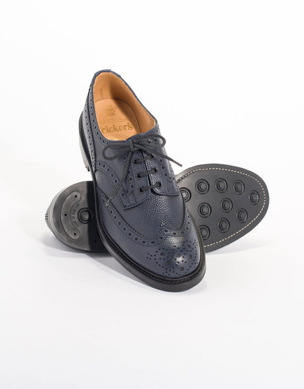 J.PRESS x TRICKER'S NAVY SCOTCH GRAIN WINGTIP