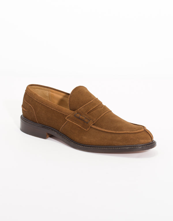 J.PRESS x TRICKER'S SUEDE PENNY LOAFER - BROWN