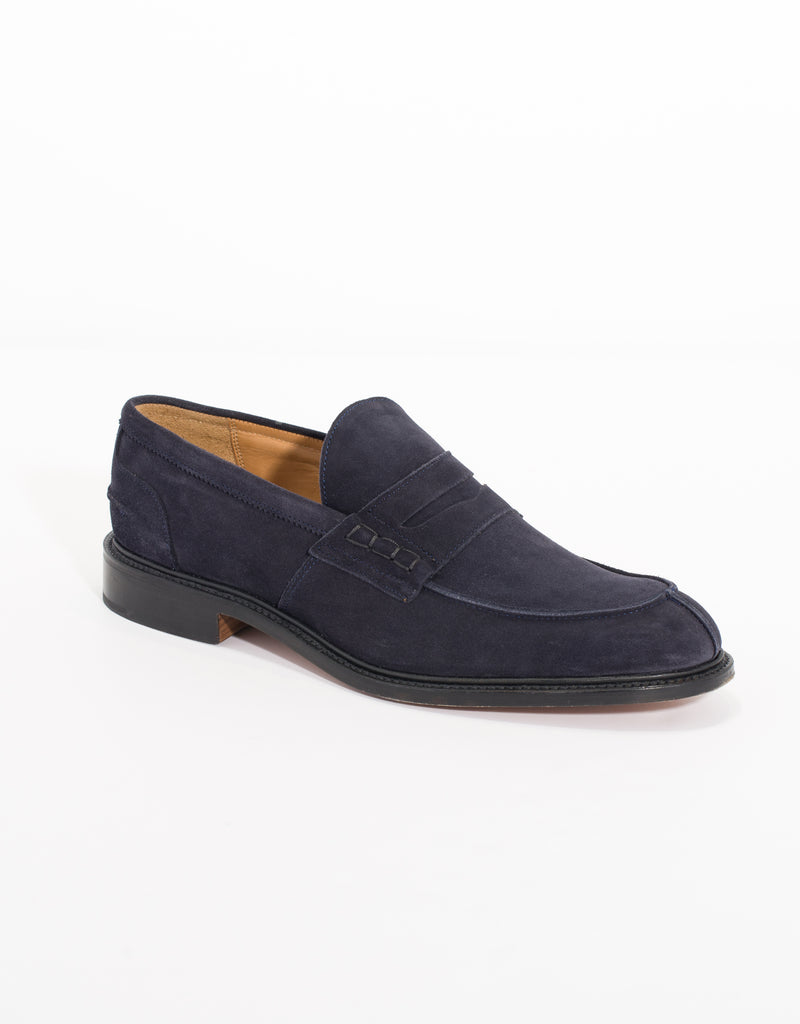 J.PRESS x TRICKER'S SUEDE PENNY LOAFER - NAVY