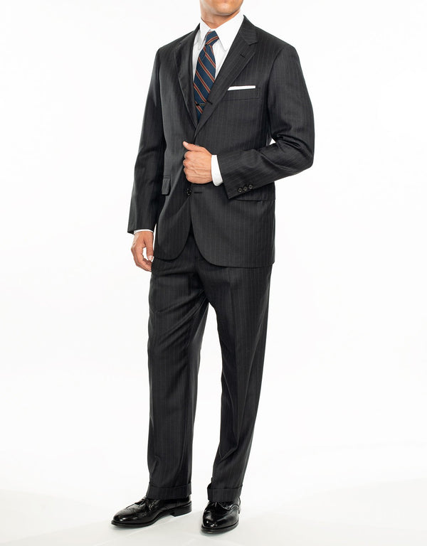 GREY PINSTRIPE SUIT - CLASSIC FIT