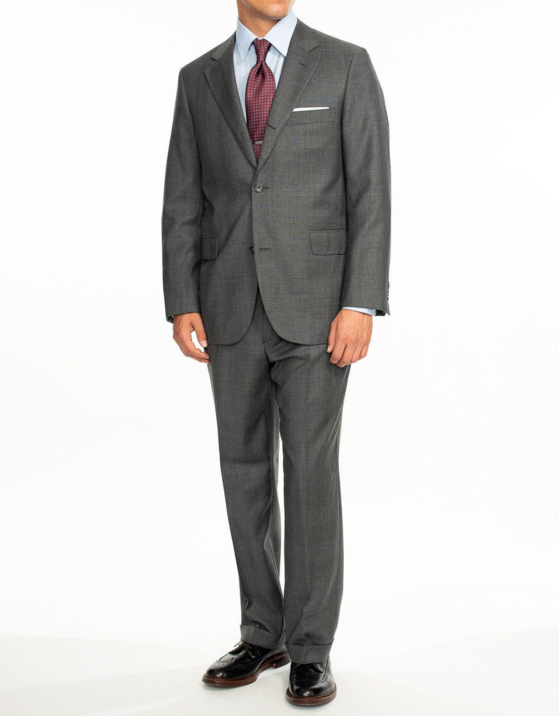GREY PLAID SUIT - CLASSIC FIT