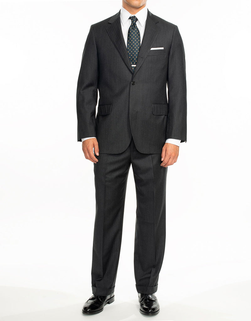 CHARCOAL HERRINGBONE SUIT