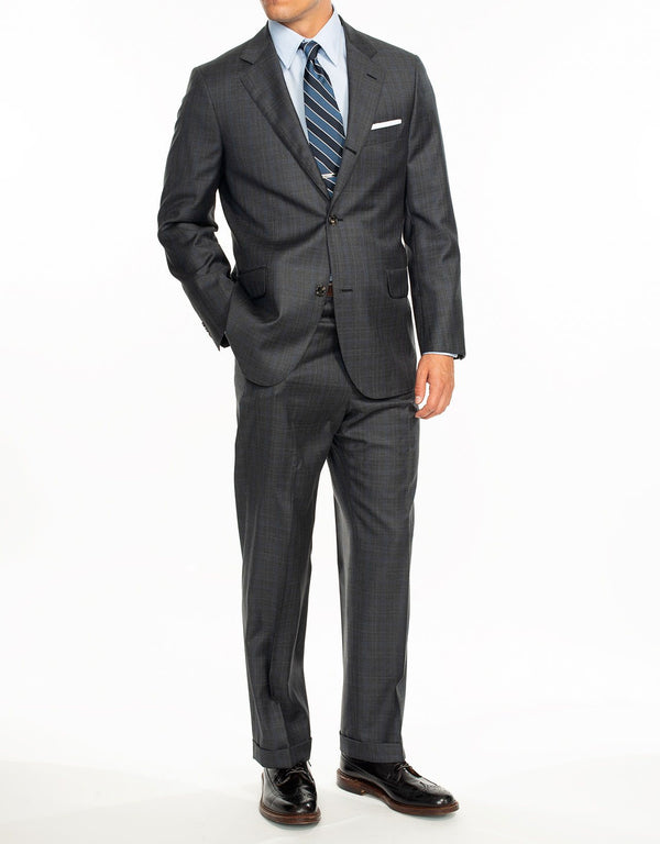 CHARCOAL PLAID SUIT - CLASSIC FIT