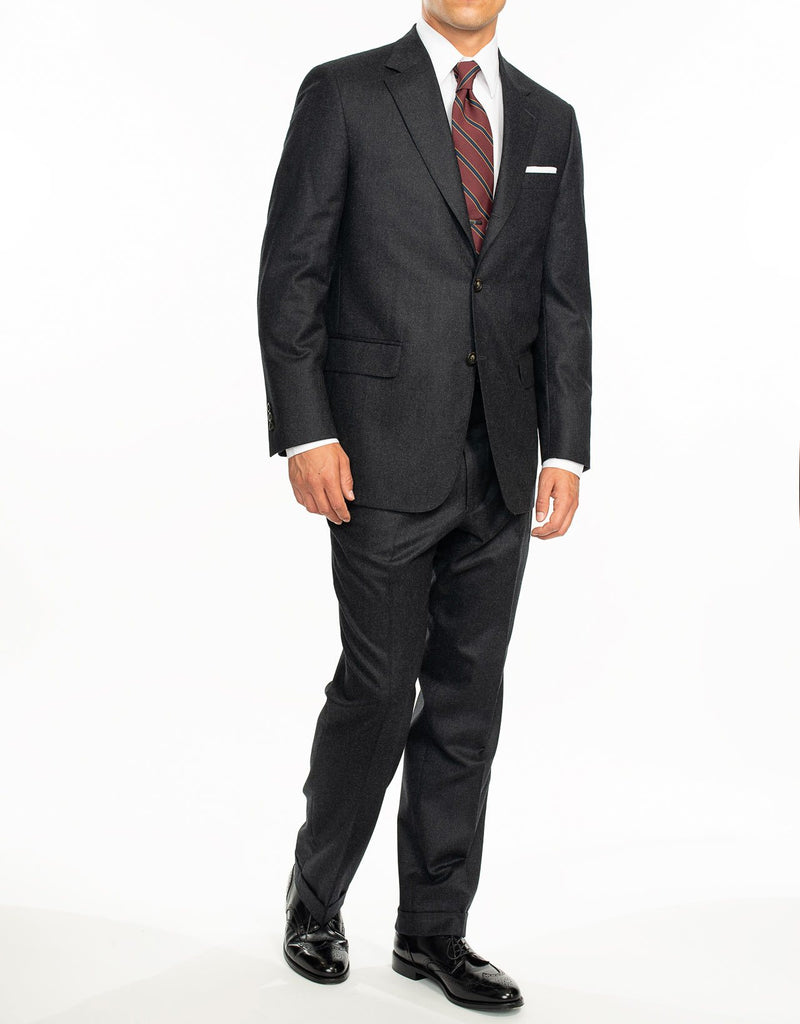 CHARCOAL FLANNEL SUIT - CLASSIC FIT