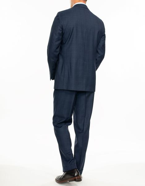 NAVY BLUE PLAID SUIT