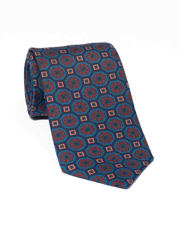 ANCIENT MADDER LARGE FOULARD- NAVY