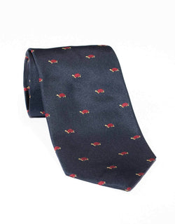 EMBLEMATIC TURTLE TIE - NAVY
