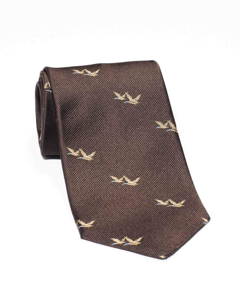 EMBLEMATIC MALLARD TIE - BROWN
