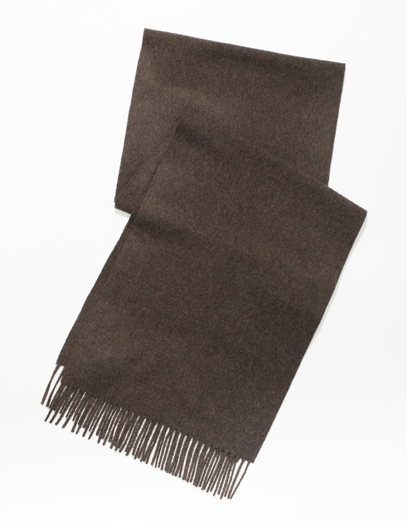 ESCORIAL WOOL SCARF - BROWN