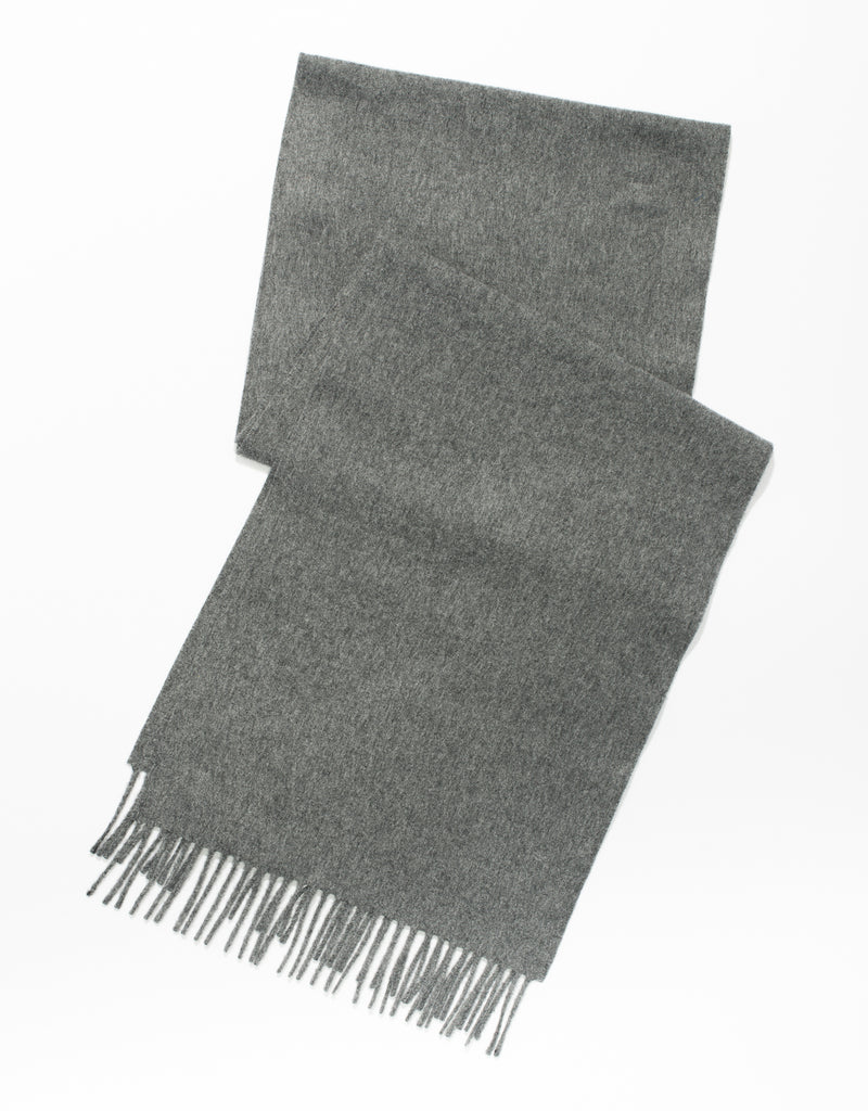 ESCORIAL WOOL SCARF - GREY