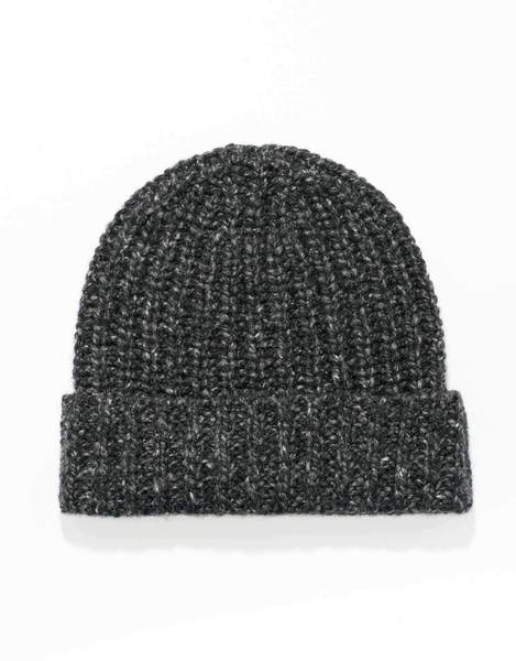 CHARCOAL 100% CASHMERE DONEGAL HAT