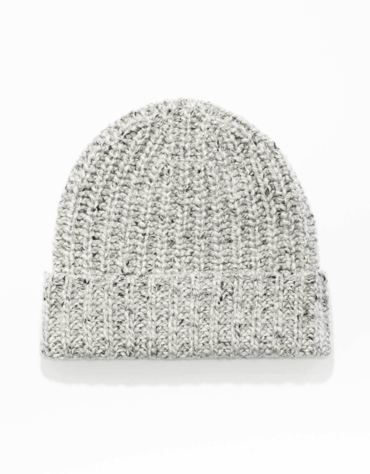 CASHMERE DONEGAL CAP-GREY