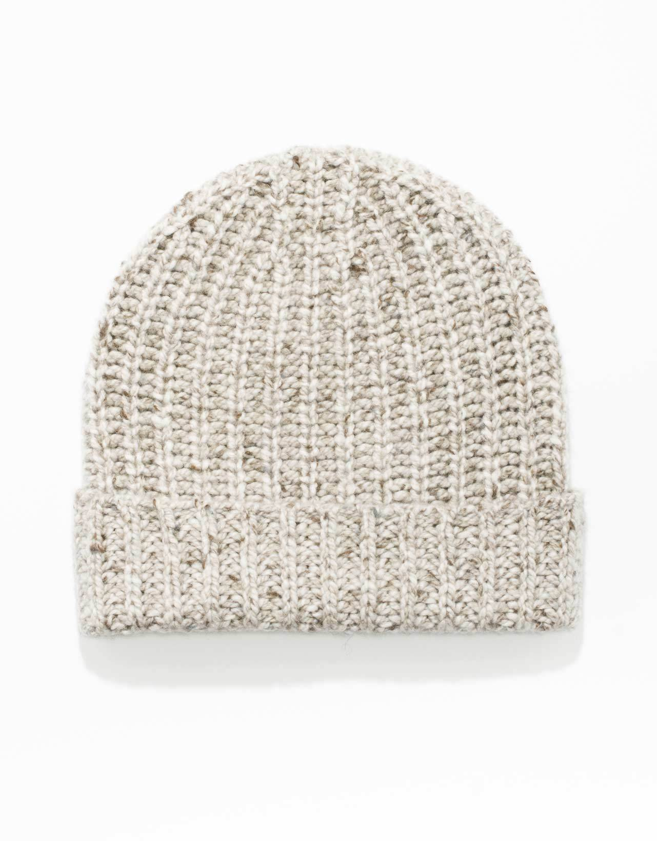 CASHMERE DONEGAL CAP-NATURAL