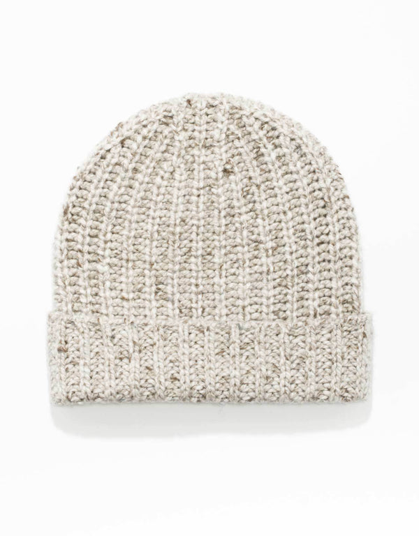 NATURAL  100% CASHMERE DONEGAL HAT
