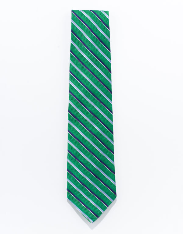 MOGADOR STRIPES TIE - Green