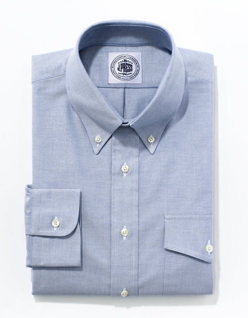 OXFORD BUTTON DOWN WITH FLAP POCKET - BLUE