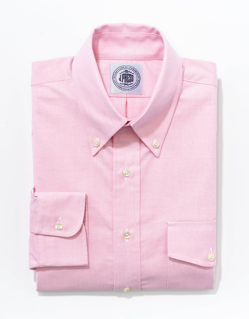 OXFORD BUTTON DOWN WITH FLAP POCKET SHIRT - PINK