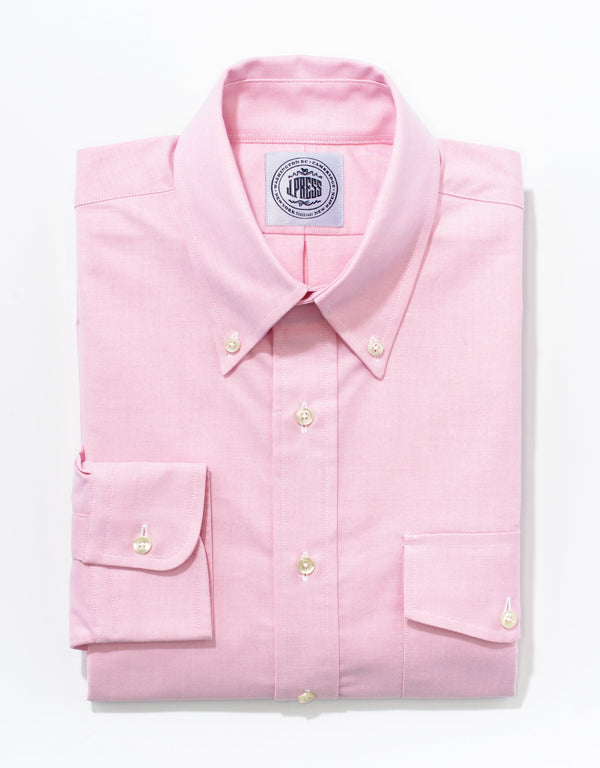 PINK OXFORD BUTTON DOWN SHIRT W/ FLAP POCKET
