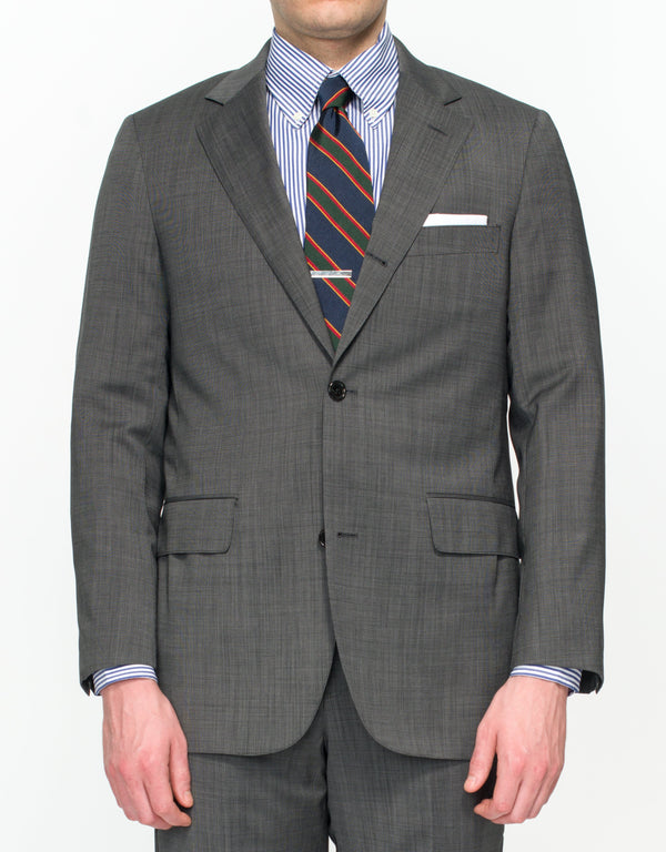 CHARCOAL PINDOT SUIT - CLASSIC FIT