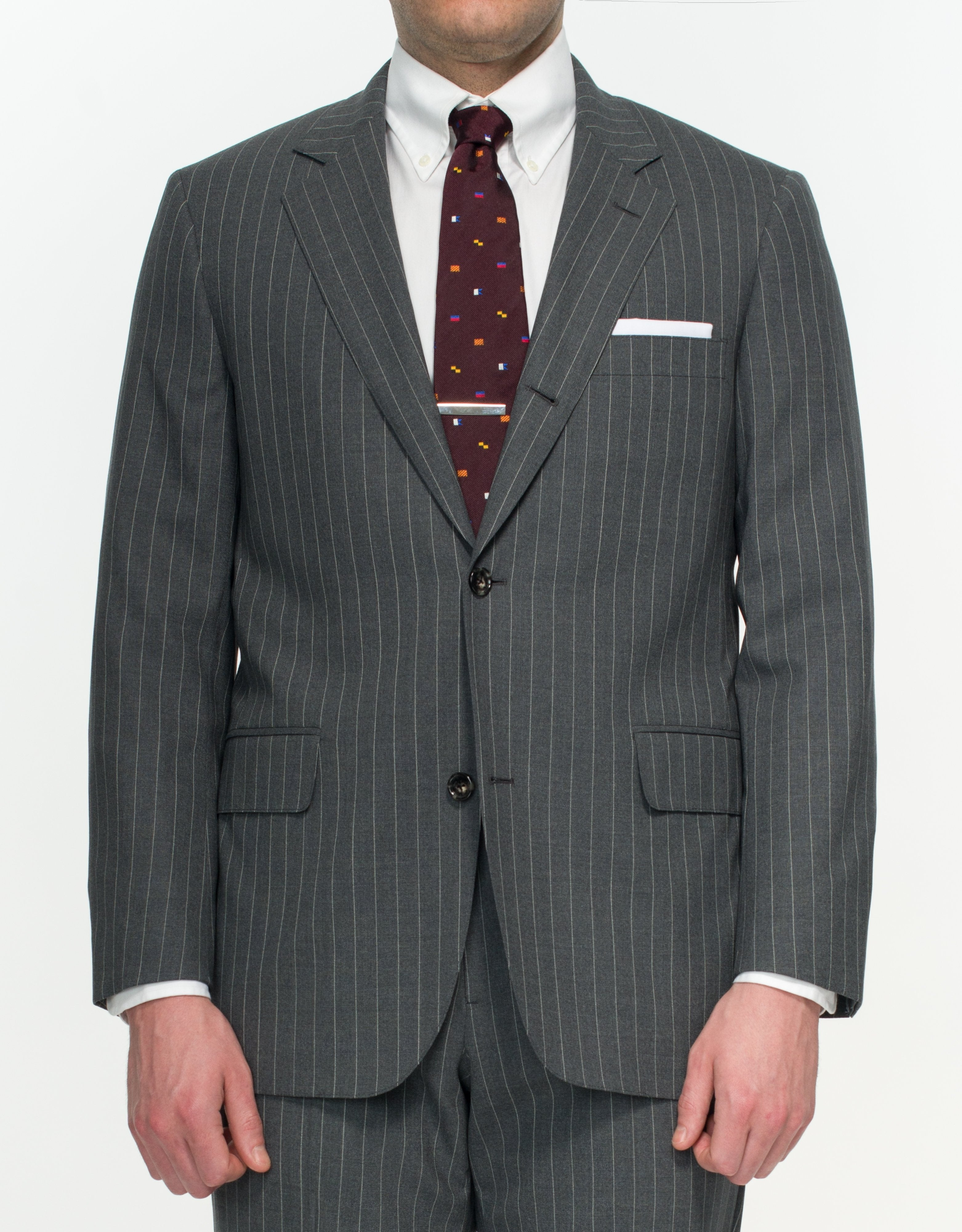 PRESSIDENTIAL SUIT- GREY STRIPE