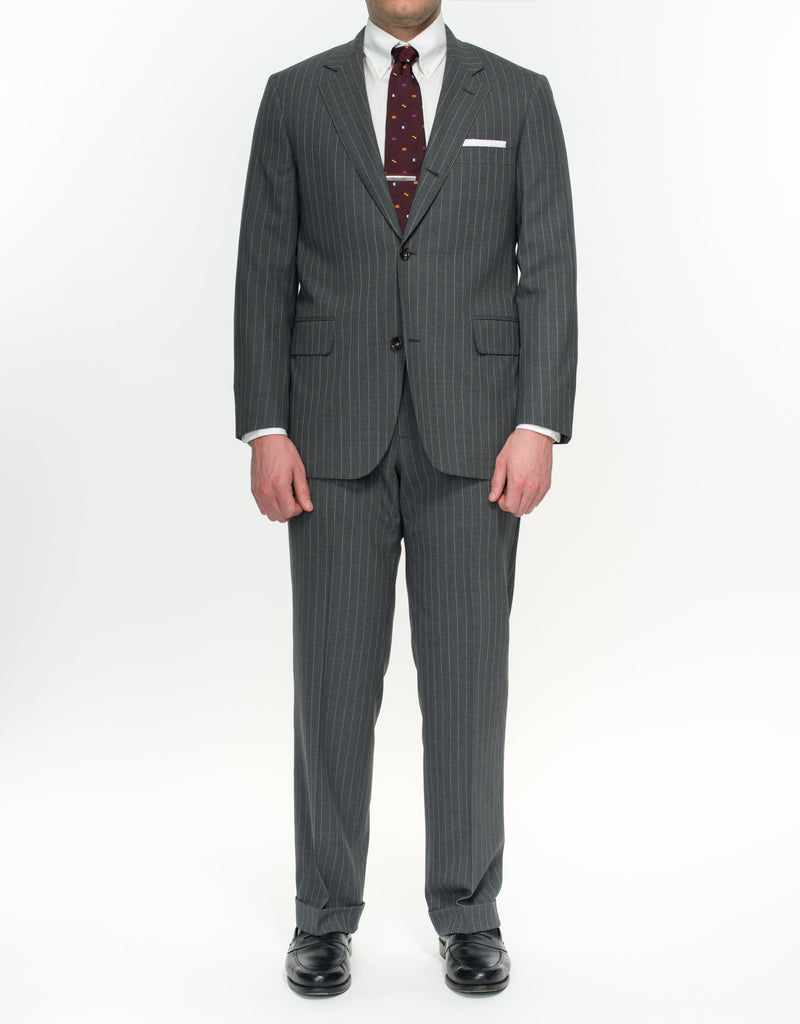 GREY STRIPE SUIT - CLASSIC FIT