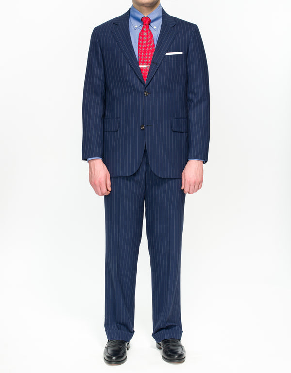 NAVY STRIPE SUIT - CLASSIC FIT