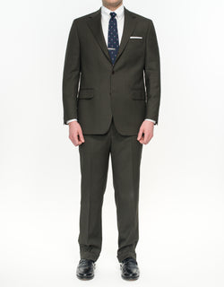 CHARCOAL BROWN NAILHEAD SUIT - CLASSIC FIT