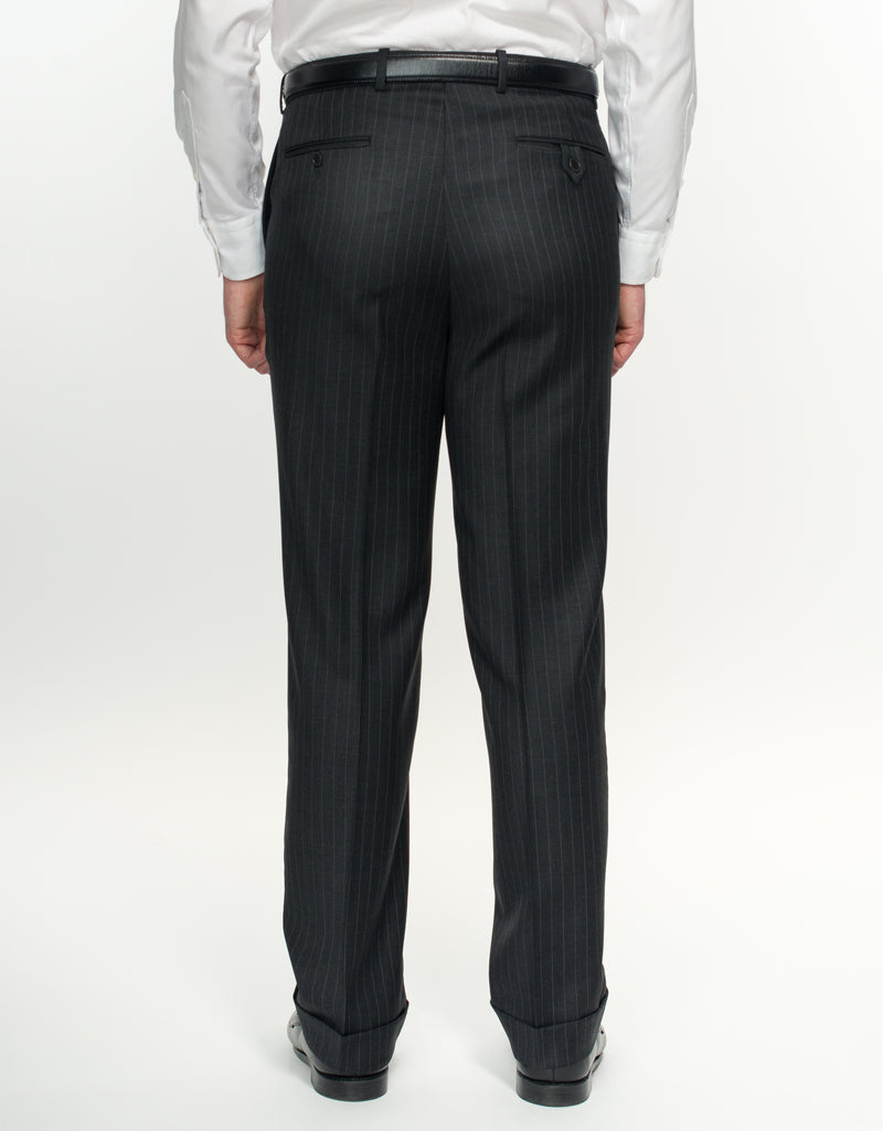 GREY PIN STRIPE SUIT - CLASSIC FIT