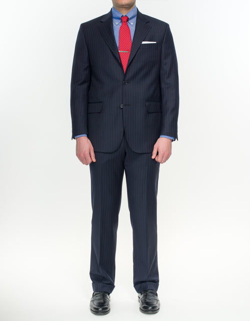PRESSTIGE SUIT- NAVY PIN STRIPE