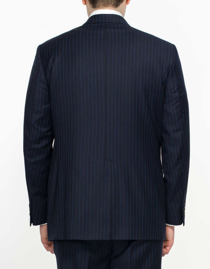 NAVY WITH BLUE STRIPE SUIT - CLASSIC FIT