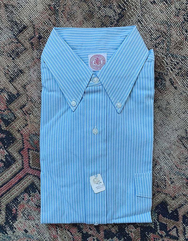 VINTAGE J. PRESS BROADCLOTH SHIRT - BLUE/WHITE - J. PRESS