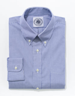 BLUE/WHITE STRIPE BROADCLOTH DRESS SHIRT